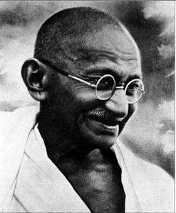 Gandhi smile