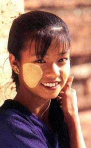 woman with sun block