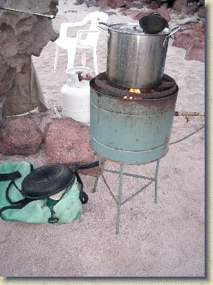 Cook stove.