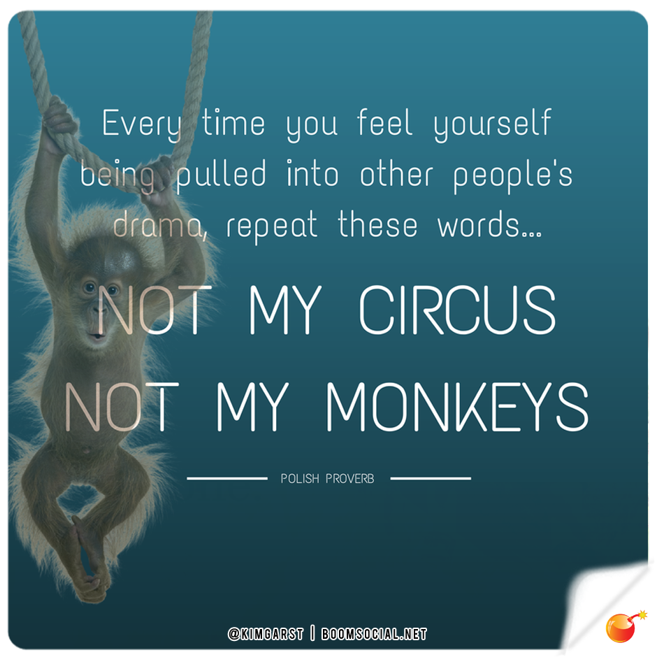 Funny Circus Quotes: Not My Circus, Not My Monkeys