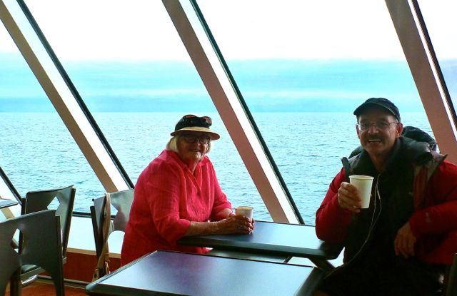 hot chocolate on the newest ferry
