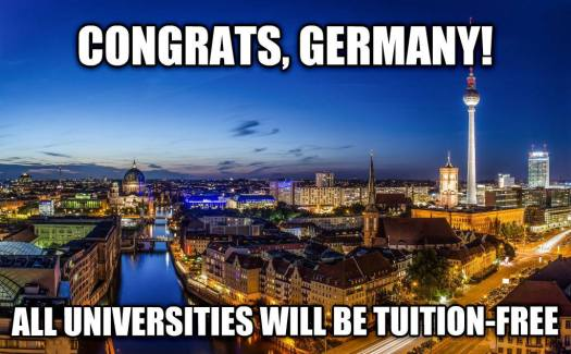 free tuition Germany
