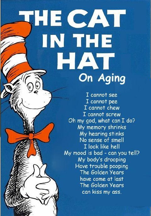 cat in the hat on aging