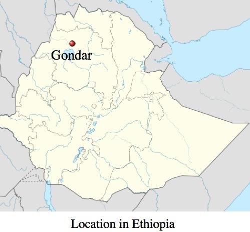 Gondar map