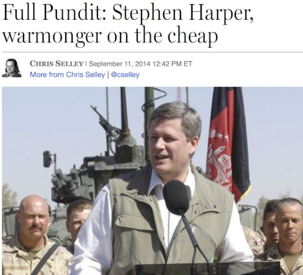 Harper warmonger