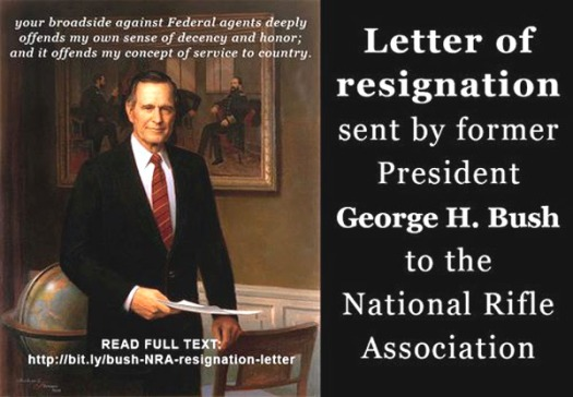 Bush resigns NRA