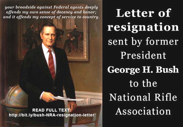 Bush resigns NRA