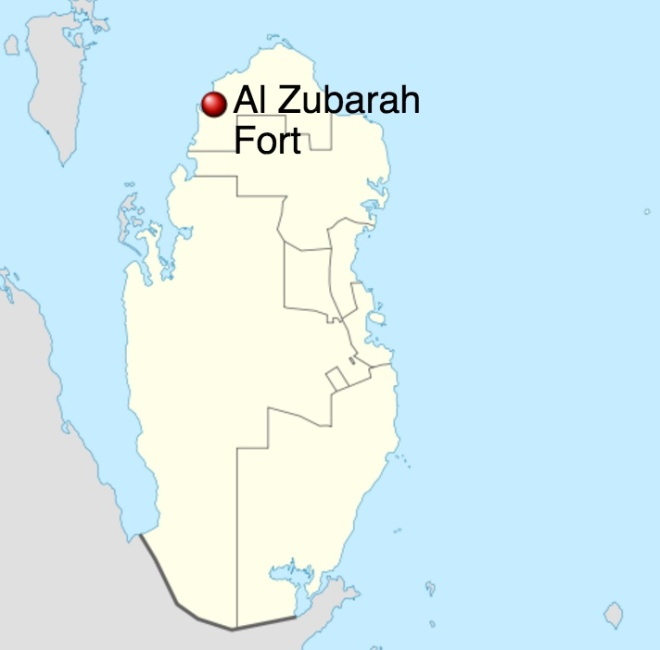 Zubarah Fort map