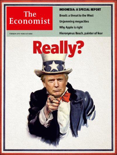 Economist cover Trump