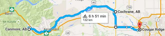 Canmore Calgary map