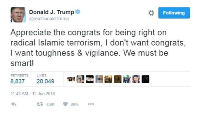 Trump on Orlando