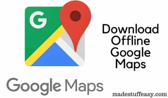 download Google Maps offline to your phone | RickMcCharles.com on